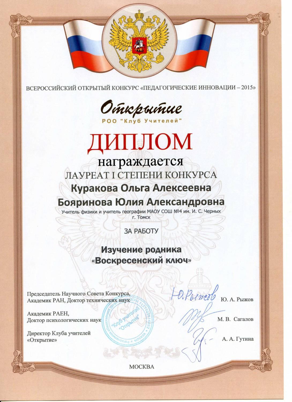Конкурс педагогические инновации. у